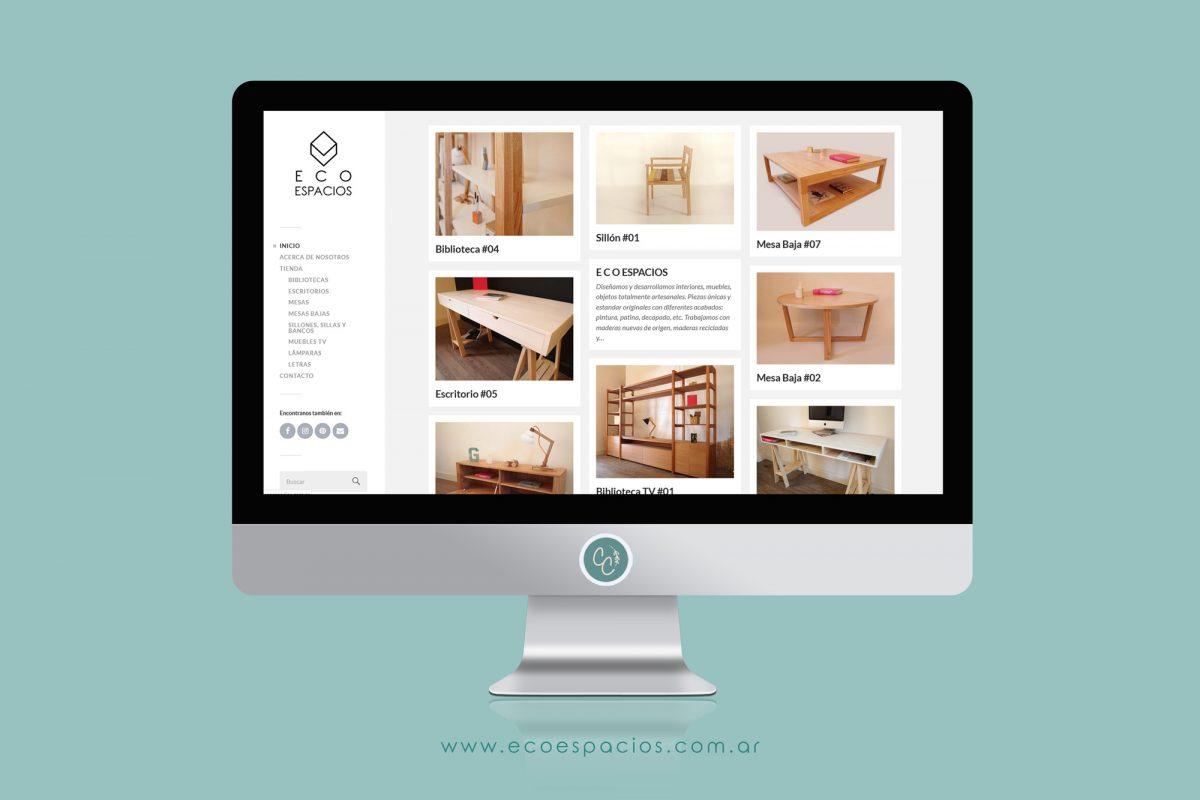 Diseño Web del sitio www.ecoespacios.com.ar
