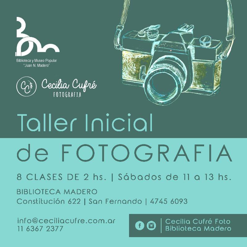 Taller de Fotografía Inicial en la Biblioteca Madero de San Fernando.